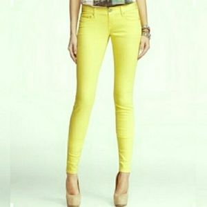 NEW Express Stella Legging Jeans in Yellow
